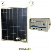 Kit Starter Solare Fotovoltaico 160W 24V  Regolatore PWM 10A 24V Epsolar LS1024B