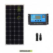 Kit Starter Pannello Solare Monocristallino 100W 12V  Regolatore di carica PWM 10A Serie NV