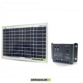 Kit Solare Fotovoltaico 10W 12V Regolatore PWM 5A Epsolar Camper Casa Nautica Illuminazione