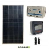 Kit Starter Pannello Solare 150W 12V  Regolatore PWM 10A 12V Serie LS con Display Remoto