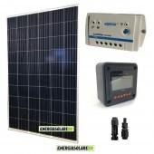 Kit Solare Fotovoltaico 280W 24V Policristallino con Regolatore PWM 10A LS1024B e Display MT-50 Epsolar