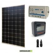 Kit Solare Fotovoltaico Monocristallino 300W 24V Regolatore PWM 10A LS1024B con Display MT-50