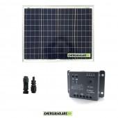 Kit Solare Fotovoltaico 50W 12V Regolatore PWM 5A Epsolar Camper Casa Nautica Illuminazione