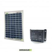 Kit Starter Pannello Solare 5W 12V regolatore di carica 5A