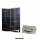 Kit Starter Pannello Solare Fotovoltaico 80W 12V  Regolatore di carica 10A LS1024B