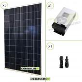 Kit Starter Pannello Solare Fotovoltaico 840W 12V Regolatore di carica 60A MPPT 100Voc