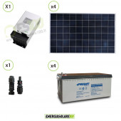 Kit Solare fotovoltaico 1KW impianto Video Sorveglianza 12V DVR 20 Telecamera 24h al giorno