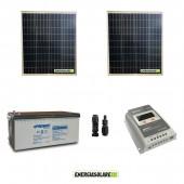 Kit Solare 200W alimentazione Video Sorveglianza 12volt per DVR e 2 Telecamera 24h al giorno