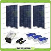 Kit Solare 810W alimentazione Video Sorveglianza 12volt per DVR e 15 Telecamera 24h al giorno