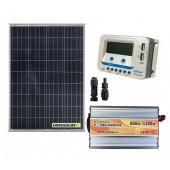 Kit Mini Baita pannello solare 100W inverter onda modificata 600W regolatore 10 A EPsolar