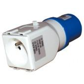 Adattatore spina blu CEE / presa francese - R427