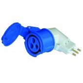Adattatore 90 gradi spina italiana / presa blu CEE - R428/I