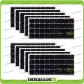 Stock 10 Pannelli Solari 100W 12V Monocristallino