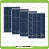Stock 4 Pannelli Solari 100W 12V