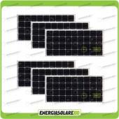Stock 6 Pannelli Solari 100W 12V Monocristallino