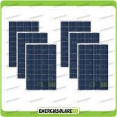 Stock 6 Pannelli Solari 100W 12V Policristallino