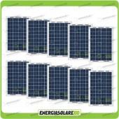 Stock 10 Pannelli Solari 10W 12V