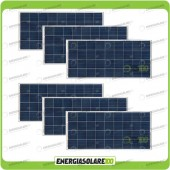 Stock 6 Pannelli Solari 150W 12V