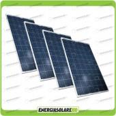 Stock 4 Pannelli Solari 200W 12V