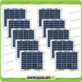 Stock 10 Pannelli Solari 5W 12V
