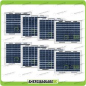 Stock 8 Pannelli Solari 5W 12V