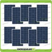 Stock 10 Pannelli Solari 80W 12V