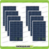 Stock 8 Pannelli Solari 80W 12V