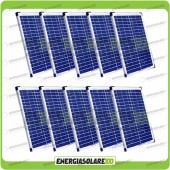 Stock 10 Pannelli Solari 20W 12V