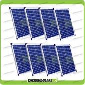 Stock 8 Pannelli Solari 20W 12V