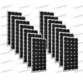 Set 14 x Pannelli Solari Fotovoltaico 300W Europeo 24V tot. 4500W Casa Baita Stand-Alone