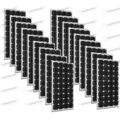 Set 18 x Pannelli Solari Fotovoltaico 300W Europeo 24V tot. 5400W Casa Baita Stand-Alone