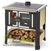 Cucina a Legna Tilde in Metallo con Scarico Fumi Superiore 6 KW