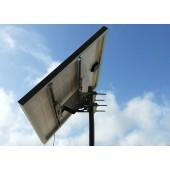 Supporto di fissaggio testa palo per moduli fotovoltaici da 50W a 100W palo max 80mm