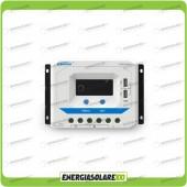 Regolatore di carica PWM VS6024AU 60A 12V 24V con prese USB 5V per impianti fotovoltaici funzione crepuscolare
