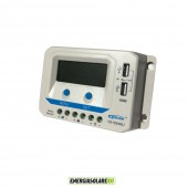 Regolatore di carica PWM VS1024AU 10A 12V 24V con prese USB 5V per impianti fotovoltaici funzione crepuscolare
