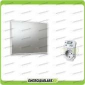 Kit Termosifone Quadro Riscaldamento a Infrarossi a specchio 400W + Termostato max 12mq
