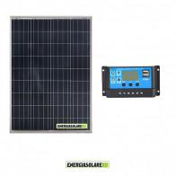 Kit Solare Fotovoltaico 150W 12V Mantenimento batteria auto, camper, nautica