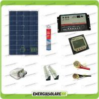 Kit Camper Plus pannello solare 80W 12V regolatore REGDUO 10A supporto spoiler passacavi colla