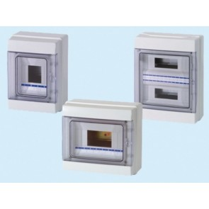Centraline scatole stagne a parete IP65 Art. FG14512 - 6/12 moduli - mm. 290x240x105 - 18 Watt