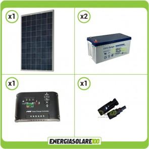 Kit Starter Plus Pannello Solare 270W 24V Batteria GEL 200Ah Regolatore di Carica 10A Epsolar