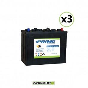 Set 3 Batterie Acido Libero a Piastra Tubolare OP150 150Ah 12V
