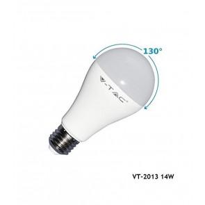LAMPADINA LED 14 W E27 RAGGIO LUMINOSO 130° V-TAC VT-2013 LUCE A SCELTA