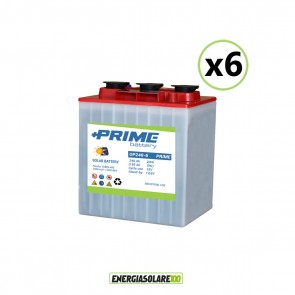 Set 6 Batterie Acido Libero a Piastra Tubolare OP240 240Ah 6V