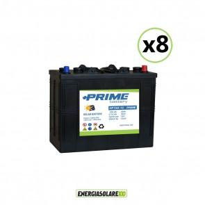 Set 8 Batterie Acido Libero a Piastra Tubolare OP150 150Ah 12V