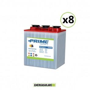 Set 8 Batterie Acido Libero a Piastra Tubolare OP240 240Ah 6V