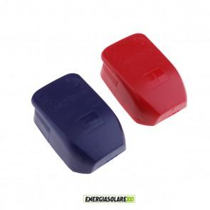 Coppia di clip morsetti per batteria rosso + blu connettori terminali rapidi