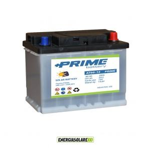 Batteria Solare Prime ad acido libero AT60 60Ah 12V pannello, camper, baite