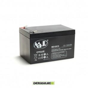 Batteria Ermetica AGM Piombo-Acido 16Ah 12V bici elettriche