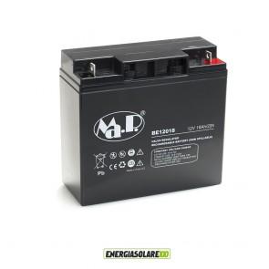 Batteria Ermetica AGM 18Ah 12V per uso generale piccoli impianti fotovoltaici