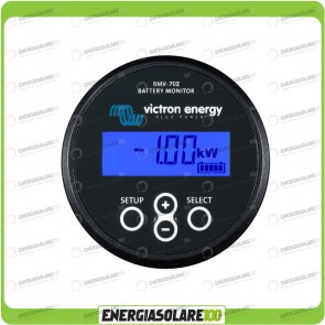 Dispositivo di Controllo Doppia Batteria BMV-702 Black Victron Energy AGM GEL Litio